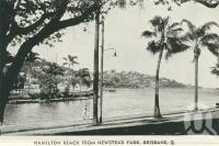 "<span class=""caption-caption"">Hamilton Reach from Newstead Park, Brisbane</span>, c1938. <br />Postcard folder by <span class=""caption-publisher"">Murray Views Pty Ltd</span>, collection of <span class=""caption-contributor"">Centre for the Government of Queensland</span>."