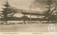 "<span class=""caption-caption"">Coolangatta Hotel. Message on the postcard from Joe to his mother on 28 September 1944 reads in part: 'This is where I stayed while on furlough. Evidently this picture was taken before the Red Cross took over the Hotel because the name is no longer on it</span>, 1944. <br />Postcard by <span class=""caption-publisher"">Southern Cross Series</span>, collection of <span class=""caption-contributor"">Centre for the Government of Queensland</span>."