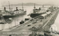 "<span class=""caption-caption"">Jetty shipping Townsville, 46,853 tons</span>, 1954. <br />Postcard by <span class=""caption-publisher"">Unknown Publisher</span>, collection of <span class=""caption-contributor"">Centre for the Government of Queensland</span>."