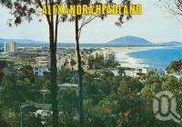 "<span class=""caption-caption"">Alexandra Headland</span>, c1965. <br />Postcard by <span class=""caption-publisher"">Bernard Kuskopf</span>, collection of <span class=""caption-contributor"">Centre for the Government of Queensland</span>."