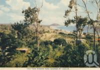 "<span class=""caption-caption"">View from Buderim Road towards Mt Coolum</span>, c1958. <br />Postcard folder by <span class=""caption-publisher"">Sydney G Hughes Pty Ltd</span>, collection of <span class=""caption-contributor"">Centre for the Government of Queensland</span>."