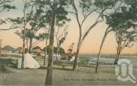 "<span class=""caption-caption"">The picnic grounds, Woody Point</span>, c1913. <br />Postcard by <span class=""caption-publisher"">Retrac Series</span>, collection of <span class=""caption-contributor"">Centre for the Government of Queensland</span>."