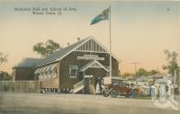 "<span class=""caption-caption"">Memorial Hall and School of Arts, Woody Point</span>, c1913. <br />Postcard by <span class=""caption-publisher"">Retrac Series</span>, collection of <span class=""caption-contributor"">Centre for the Government of Queensland</span>."