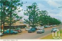 "<span class=""caption-caption"">James Street, Yeppoon</span>, 1965. <br />Postcard folder by <span class=""caption-publisher"">Murray Views Pty Ltd</span>, collection of <span class=""caption-contributor"">Centre for the Government of Queensland</span>."