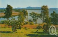 "<span class=""caption-caption"">Mt Larcom from Auckland Park, Gladstone</span>, c1965. <br />Postcard by <span class=""caption-publisher"">Murray Views Pty Ltd</span>, collection of <span class=""caption-contributor"">Centre for the Government of Queensland</span>."