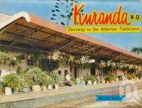 "<span class=""caption-caption"">Railway Station, Kuranda</span>, c1964. <br />Postcard folder by <span class=""caption-publisher"">Murray Views Pty Ltd</span>, collection of <span class=""caption-contributor"">Centre for the Government of Queensland</span>."