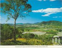 "<span class=""caption-caption"">Overlooking the sugar cane fields from Sarina Range Lookout, Sarina</span>, c1976. <br />Postcard folder by <span class=""caption-publisher"">Murray Views Pty Ltd</span>, collection of <span class=""caption-contributor"">Centre for the Government of Queensland</span>."
