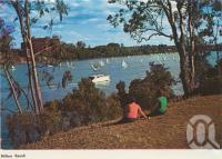 "<span class=""caption-caption"">Milton Reach</span>, c1960. <br />Postcard folder by <span class=""caption-publisher"">Murfett Publishers Pty Ltd</span>, collection of <span class=""caption-contributor"">Centre for the Government of Queensland</span>."