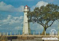 "<span class=""caption-caption"">Historic Lighthouse, Cleveland</span>, c1980. <br />Postcard folder by <span class=""caption-publisher"">Sydney G Hughes Pty Ltd</span>, collection of <span class=""caption-contributor"">Centre for the Government of Queensland</span>."