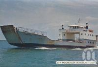 "<span class=""caption-caption"">MV Moongalba Vehicular Ferry</span>, c1980. <br />Postcard folder by <span class=""caption-publisher"">Sydney G Hughes Pty Ltd</span>, collection of <span class=""caption-contributor"">Centre for the Government of Queensland</span>."