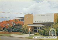 "<span class=""caption-caption"">Redlands Shire Council Building</span>, c1980. <br />Postcard folder by <span class=""caption-publisher"">Sydney G Hughes Pty Ltd</span>, collection of <span class=""caption-contributor"">Centre for the Government of Queensland</span>."