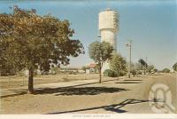 "<span class=""caption-caption"">Water tower, Winton</span>, c1960. <br />Postcard folder by <span class=""caption-publisher"">Murray Views Pty Ltd</span>, collection of <span class=""caption-contributor"">Centre for the Government of Queensland MS</span>."
