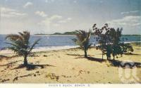 "<span class=""caption-caption"">Queen's Beach, Bowen</span>, c1955. <br />Postcard folder by <span class=""caption-publisher"">Sydney G Hughes Pty Ltd</span>, collection of <span class=""caption-contributor"">Centre for the Government of Queensland MS</span>."