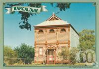 "<span class=""caption-caption"">Historic Masonic Lodge, Barcaldine</span>, 1999. <br />Postcard by <span class=""caption-publisher"">ICP</span>, collection of <span class=""caption-contributor"">Centre for the Government of Queensland MS</span>."