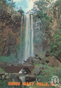 "<span class=""caption-caption"">Queen Mary Falls</span>, 1988. <br />Postcard by <span class=""caption-publisher"">ICP</span>, collection of <span class=""caption-contributor"">Centre for the Government of Queensland</span>."