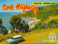 "<span class=""caption-caption"">Turtle Creek Beach, Cook Highway</span>, 1969. <br />Postcard folder by <span class=""caption-publisher"">Murray Views Pty Ltd</span>, collection of <span class=""caption-contributor"">Centre for the Government of Queensland</span>."