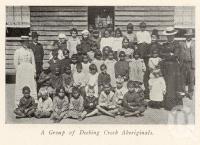"""<span class=""""caption-caption"""">A group of Deebing Creek Aboriginals</span>. <br />From <span class=""""caption-book"""">The Queenslanic</span>, <span class=""""caption-publisher"""">Methodist Book Depot</span>, 1903, collection of <span class=""""caption-contributor"""">Fryer Library, UQ</span>."""