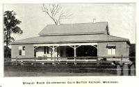 "<span class=""caption-caption"">Stanley River Co-operative Co's Butter Factory, Woodford</span>. <br />From <span class=""caption-book"">The History of Queensland</span>, <span class=""caption-publisher"">States Publishing Company</span>, 1919, collection of <span class=""caption-contributor"">Fryer Library, UQ</span>."