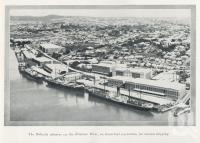 "<span class=""caption-caption"">The Bulimba wharves on the Brisbane River, an important rendezvous for oversea shipping</span>. <br />From <span class=""caption-book"">The Queenslander Annual</span>, <span class=""caption-publisher"">Queensland Newspapers</span>, 1930, collection of <span class=""caption-contributor"">Fryer Library, UQ</span>."