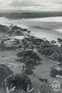"<span class=""caption-caption"">Laguna Bay, with its 40-mile beach, and the mouth of the Noosa River</span>. <br />From <span class=""caption-book"">The Queenslander Annual</span>, <span class=""caption-publisher"">Queensland Newspapers</span>, 1930, collection of <span class=""caption-contributor"">Fryer Library, UQ</span>."