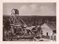 "<span class=""caption-caption"">Gold Mine, Eidsvold</span>. <br />From <span class=""caption-book"">Views of Bundaberg</span>, <span class=""caption-publisher"">W Blaikie</span>, date unknown, collection of <span class=""caption-contributor"">Fryer Library, UQ</span>."