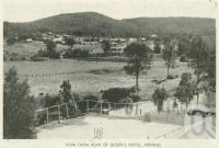 "<span class=""caption-caption"">View from the rear of Queens Hotel, Nerang</span>, 1937. <br />Booklet, collection of <span class=""caption-contributor"">John Young</span>."