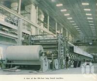 "<span class=""caption-caption"">View of the 300 foot long board machine, Petrie Mill</span>, 1957. <br />Booklet, collection of <span class=""caption-contributor"">John Young</span>."