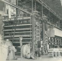 "<span class=""caption-caption"">Growth of the big machine from bare foundations, Petrie Paper Mill</span>, 1957. <br />Booklet, collection of <span class=""caption-contributor"">John Young</span>."