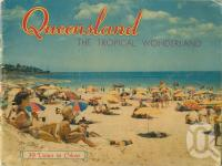 "<span class=""caption-caption"">Beach scene at Caloundra</span>, 1950. <br />Booklet, collection of <span class=""caption-contributor"">John Young</span>."