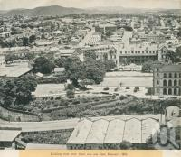 "<span class=""caption-caption"">Looking west over what was once Duncan's Hill, Fortitude Valley</span>, 1949. <br />Booklet, collection of <span class=""caption-contributor"">John Young</span>."
