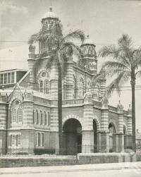 "<span class=""caption-caption"">Queensland Art Gallery and Queensland Museum building</span>, 1949. <br />Booklet, collection of <span class=""caption-contributor"">John Young</span>."