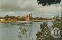 "<span class=""caption-caption"">Colonial Sugar Refinery at New Farm</span>, 1949. <br />Booklet, collection of <span class=""caption-contributor"">John Young</span>."