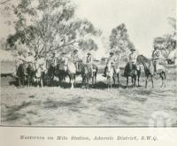 "<span class=""caption-caption"">Musterers on Milo Station, Adavale District</span>. <br />From <span class=""caption-book"">Queensland Sheep and Wool Industry</span>, <span class=""caption-creator"">Queensland Government Intelligence and Tourist Bureau</span>, Brisbane, 1918, collection of <span class=""caption-contributor"">Centre for the Government of Queensland</span>."