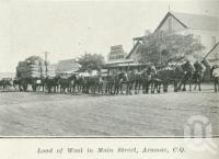 "<span class=""caption-caption"">Load of wool in Main Street, Aramac</span>. <br />From <span class=""caption-book"">Queensland Sheep and Wool Industry</span>, <span class=""caption-creator"">Queensland Government Intelligence and Tourist Bureau</span>, Brisbane, 1918, collection of <span class=""caption-contributor"">Centre for the Government of Queensland</span>."