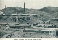"<span class=""caption-caption"">Scene at Mount Morgan gold mine</span>. <br />From <span class=""caption-book"">Queensland The Jewel of Australia</span>, <span class=""caption-publisher"">Sydney G Hughes</span>, Brisbane, c1933, collection of <span class=""caption-contributor"">Centre for the Government of Queensland</span>."