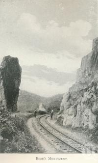 "<span class=""caption-caption"">Robb's monument</span>. <br />From <span class=""caption-book"">Tours in the Cairns District, Handbook to Cairns and Hinterland</span>, <span class=""caption-creator"">Queensland Railways</span>, Brisbane, 1912, collection of <span class=""caption-contributor"">Centre for the Government of Queensland</span>."