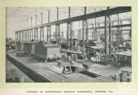 "<span class=""caption-caption"">Interior of Government railway workshops, Ipswich</span>. <br />From <span class=""caption-book"">Glimpses of Sunny Queensland (2nd edition)</span>, <span class=""caption-creator"">Queensland Government Intelligence and Tourist Bureau</span>, Brisbane, 1912, collection of <span class=""caption-contributor"">Centre for the Government of Queensland</span>."
