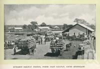 "<span class=""caption-caption"">Kingaroy Railway Station</span>. <br />From <span class=""caption-book"">Glimpses of Sunny Queensland (2nd edition)</span>, <span class=""caption-creator"">Queensland Government Intelligence and Tourist Bureau</span>, Brisbane, 1912, collection of <span class=""caption-contributor"">Centre for the Government of Queensland</span>."