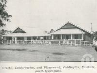 "<span class=""caption-caption"">Creche, kindergarten and playground, Paddington</span>. <br />From <span class=""caption-book"">The Pocket Queensland</span>, <span class=""caption-creator"">Queensland Government Intelligence and Tourist Bureau</span>, Brisbane, 1921, collection of <span class=""caption-contributor"">Centre for the Government of Queensland</span>."