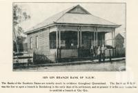 "<span class=""caption-caption"">Gin Gin branch of the Bank of NSW</span>. <br />From <span class=""caption-book"">The Burnett and Isis Pictorial</span>, <span class=""caption-creator"">Richards & Kingdon</span>, Bundaberg, 1927, collection of <span class=""caption-contributor"">Centre for the Government of Queensland</span>."