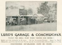 "<span class=""caption-caption"">Lund's Garage and Coachworks, Gin Gin</span>. <br />From <span class=""caption-book"">The Burnett and Isis Pictorial</span>, <span class=""caption-creator"">Richards & Kingdon</span>, Bundaberg, 1927, collection of <span class=""caption-contributor"">Centre for the Government of Queensland</span>."