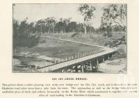 "<span class=""caption-caption"">Gin Gin Creek Bridge</span>. <br />From <span class=""caption-book"">The Burnett and Isis Pictorial</span>, <span class=""caption-creator"">Richards & Kingdon</span>, Bundaberg, 1927, collection of <span class=""caption-contributor"">Centre for the Government of Queensland</span>."