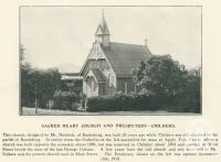 "<span class=""caption-caption"">Sacred Heart Church and Presbytery, Childers</span>. <br />From <span class=""caption-book"">The Burnett and Isis Pictorial</span>, <span class=""caption-creator"">Richards & Kingdon</span>, Bundaberg, 1927, collection of <span class=""caption-contributor"">Centre for the Government of Queensland</span>."