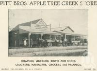 "<span class=""caption-caption"">Pitt Bros Apple Tree Creek Store</span>. <br />From <span class=""caption-book"">The Burnett and Isis Pictorial</span>, <span class=""caption-creator"">Richards & Kingdon</span>, Bundaberg, 1927, collection of <span class=""caption-contributor"">Centre for the Government of Queensland</span>."