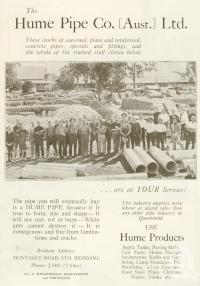 "<span class=""caption-caption"">Hume Pipe Co, South Brisbane</span>. <br />From <span class=""caption-book"">Brisbane, Australia's Sunshine City, Souvenir Commemorating the Visit of HRH The Dule of Gloucester</span>, <span class=""caption-creator"">Brisbane City Council</span>, Brisbane, 1934, collection of <span class=""caption-contributor"">Centre for the Government of Queensland</span>."