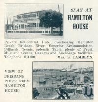 "<span class=""caption-caption"">Stay at Hamilton House</span>. <br />From <span class=""caption-book"">Queensland Journey</span>, <span class=""caption-creator"">C.B. Christensen</span>, <span class=""caption-publisher"">Queensland Government Tourist Bureau</span>, Brisbane, 1938, collection of <span class=""caption-contributor"">Centre for the Government of Queensland</span>."
