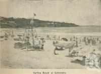 "<span class=""caption-caption"">Surfing beach at Caloundra</span>. <br />From <span class=""caption-book"">Penrod's 150 miles round Brisbane</span>, <span class=""caption-creator"">Penrod Guide Book Company</span>, Brisbane, 1956, collection of <span class=""caption-contributor"">Centre for the Government of Queensland</span>."