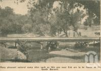 "<span class=""caption-caption"">Natural camp site near Esk, South Burnett</span>. <br />From <span class=""caption-book"">Penrod's 150 miles round Brisbane</span>, <span class=""caption-creator"">Penrod Guide Book Company</span>, Brisbane, 1956, collection of <span class=""caption-contributor"">Centre for the Government of Queensland</span>."