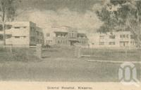 "<span class=""caption-caption"">General Hospital, Kingaroy</span>. <br />From <span class=""caption-book"">Penrod's 150 miles round Brisbane</span>, <span class=""caption-creator"">Penrod Guide Book Company</span>, Brisbane, 1956, collection of <span class=""caption-contributor"">Centre for the Government of Queensland</span>."