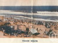 "<span class=""caption-caption"">Tugun Beach</span>. <br />From <span class=""caption-book"">Coolangatta for your holidays</span>, <span class=""caption-creator"">Queensland Government Tourist Bureau</span>, Brisbane, c1938, collection of <span class=""caption-contributor"">Centre for the Government of Queensland</span>."